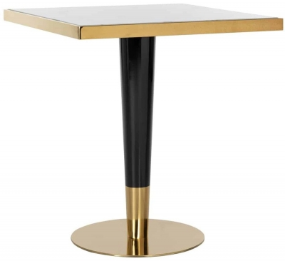 Osteria White Marble Square Bar Table