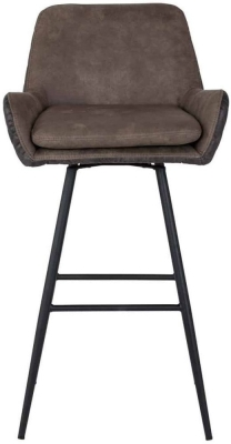 Diana Fabric Barstool with Black Legs