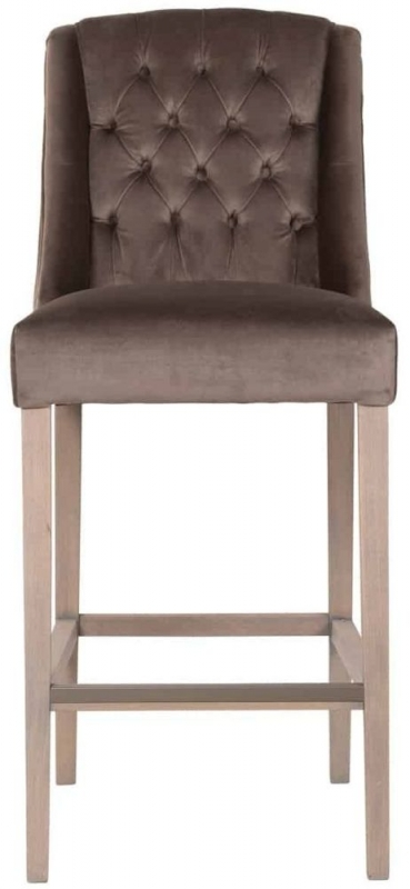 Day Fabric Barstool with Silver Ring