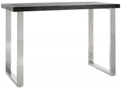 Blackbone Black Oak and Silver Bar Table
