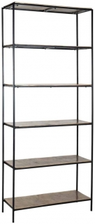 Calloway Champagne Gold and Black Wall Cabinet