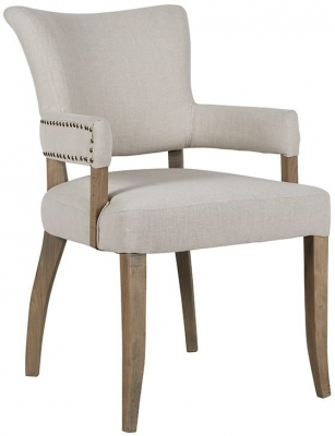 Roxy Fabric Armchair with Bronze Nails