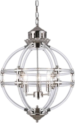 Jace Silver Hanging Lamp