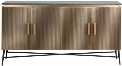 Ironville Golden 4 Door Sideboard
