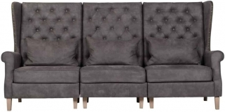 Jonas 3 Seater Fabric Sofa