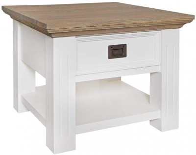 Oakdale Oak and Painted 1 Drawer Side Table