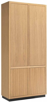 Oakura Soft Grey Oak 4 Door Wardrobe