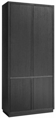 Oakura Black Oak 4 Door Wardrobe