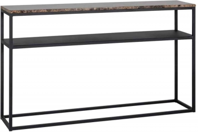 Orion Brown Marble Console Table
