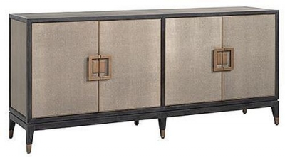 Bloomingville Shagreen Faux Leather 4 Door Sideboard