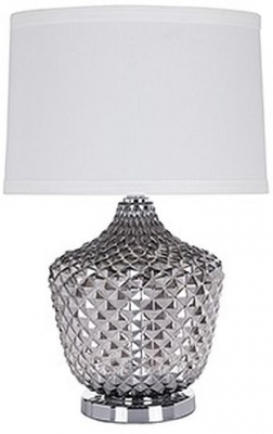 Chase Glass Table Lamp with White Shade