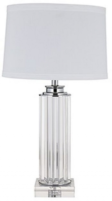 Jenoah Glass Table Lamp with White Shade
