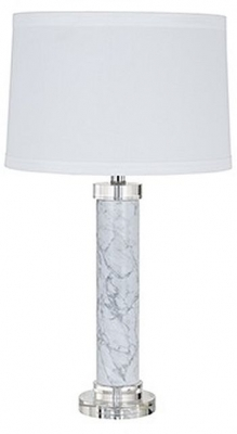 Kane Glass Table Lamp with White Shade