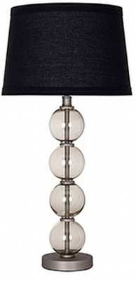 Quint Glass Table Lamp with Black Shade