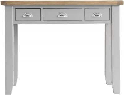 Hampstead Oak and Grey Painted 3 Drawer Dressing Table
