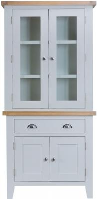 Hampstead Oak and Grey Painted 4 Door 1 Drawer Dresser