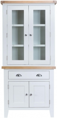 Hampstead Oak and White Painted 4 Door 1 Drawer Dresser