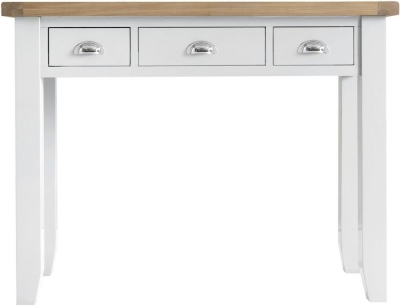 Hampstead Oak and White Painted 3 Drawer Dressing Table