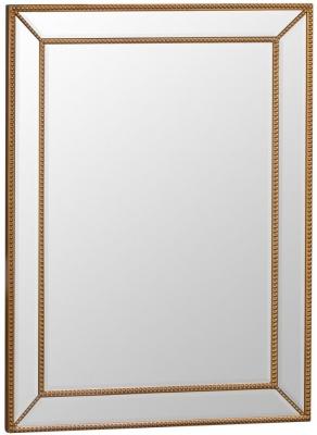 Gold Wooden Frame Beveled Mirror - 80cm x 105cm