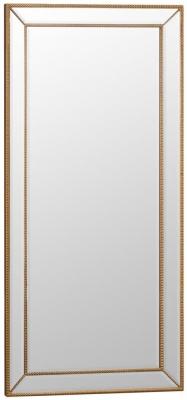 Gold Wooden Frame Rectangular Beveled Mirror - 80cm x 165cm