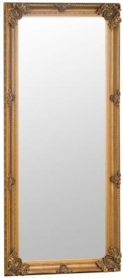 Gold Wooden Frame Rectangular Beveled Mirror - 80cm x 175cm