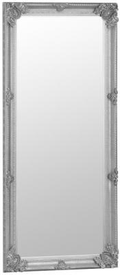 Silver Wooden Frame Rectangular Beveled Mirror - 80cm x 175cm