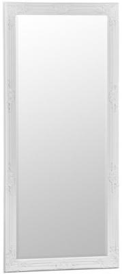 White Wooden Frame Rectangular Beveled Mirror - 75cm x 165cm