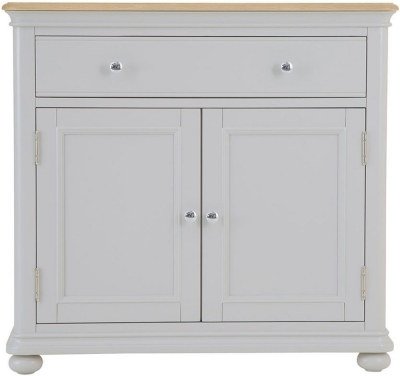 Annecy Oak and Soft Grey Painted 2 Door 1 Drawer Sideboard