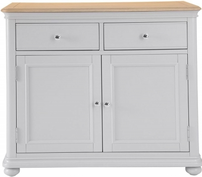 Annecy Oak and Soft Grey Painted 2 Door 2 Drawer Sideboard