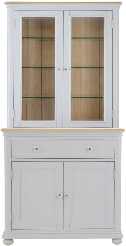 Annecy Oak and Soft Grey Painted 4 Door 1 Drawer Dresser