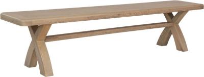 Hatton Oak Cross Leg Dining Bench