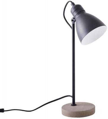 Ashorne Black Matt Table Lamp with Concrete Base
