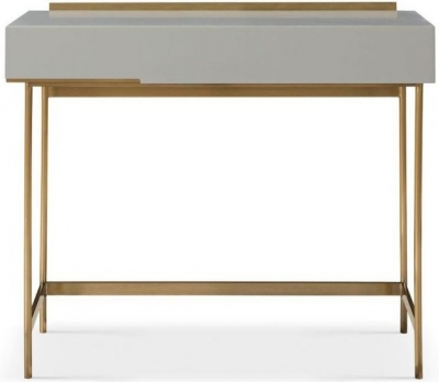 Alderton Grey Matt Lacquer and Brass Brushed Dressing Table
