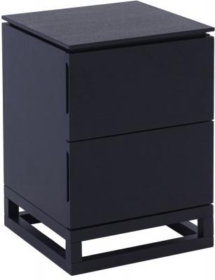 Islington Black 2 Drawer Small Bedside Cabinet