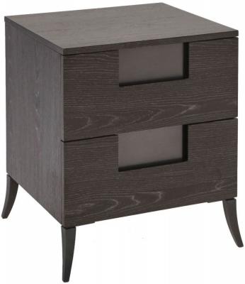 Kilburn Charcoal 2 Drawer Narrow Bedside Cabinet