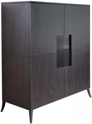 Kilburn Charcoal 4 Door Drink Cabinet