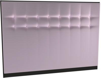 Regents Blush Velvet Upholstered Headboard with Black Frame