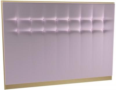 Regents Blush Velvet Upholstered Headboard with Brass Brushed Frame