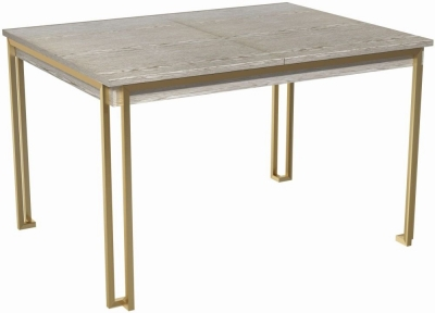 Regents Weathered Oak 120cm-160cm Rectangular Extending Dining Table