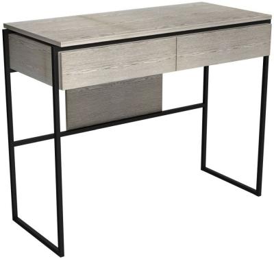 Regents Weathered Oak Dressing Table with Black Metal Frame