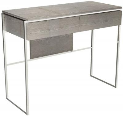 Regents Weathered Oak Dressing Table with Polished Chrome Frame