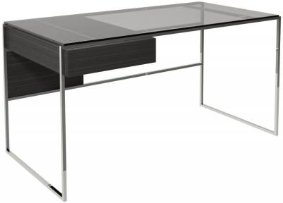 Regents Wenge Desk with Polished Chrome Frame