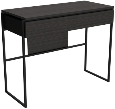 Regents Wenge Dressing Table with Black Metal Frame