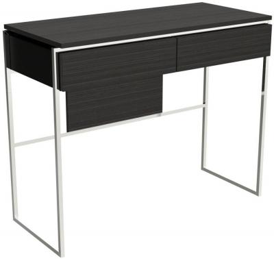 Regents Wenge Dressing Table with Polished Chrome Frame