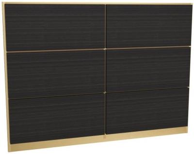 Regents Wenge Headboard with Brass Brushed Frame