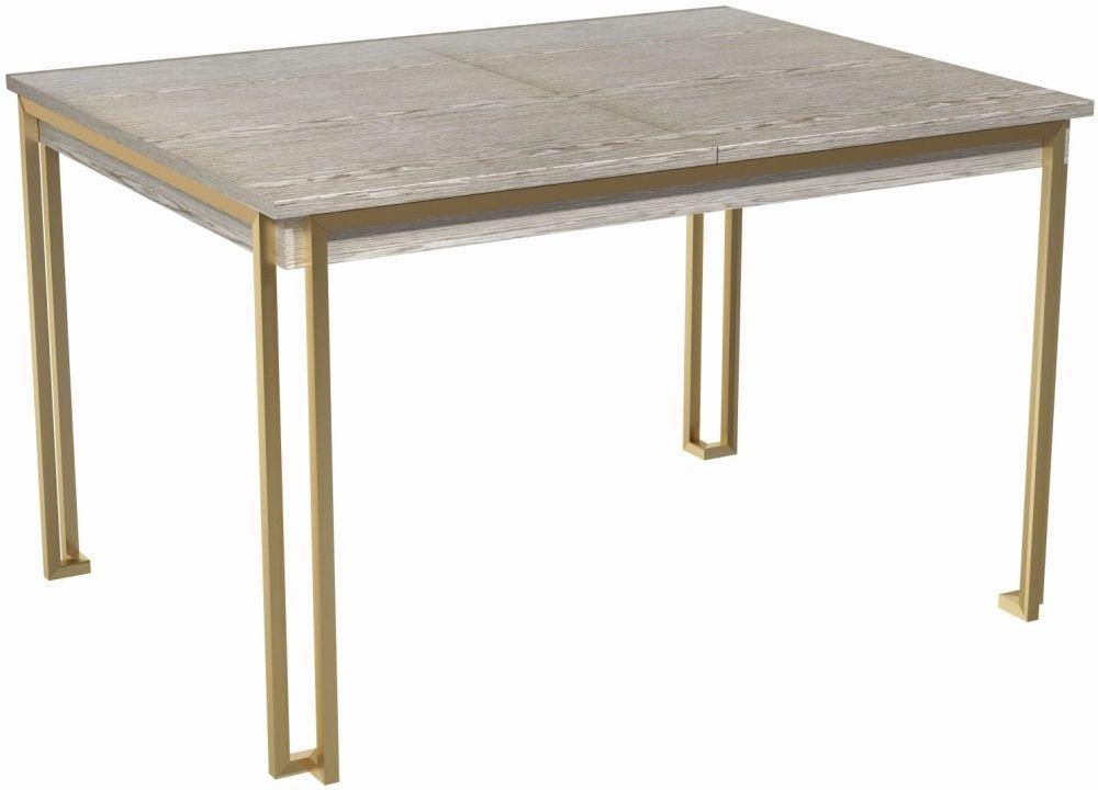 Regents Weathered Oak 120cm-160cm Rectangular Extending Dining Table