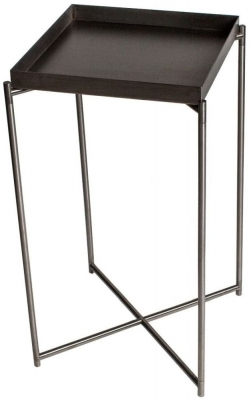 Stockwell Gun Metal Tray and Frame Square Plant Stand