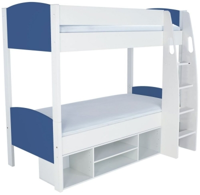 Stompa Detachable Storage Blue Round Bunk Bed without Doors