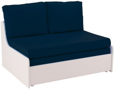 Stompa Blue Double Sofa Bed