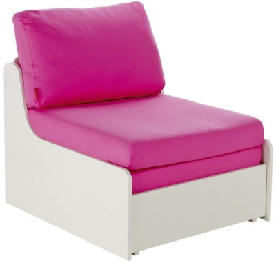 Stompa Pink Single Chair Bed